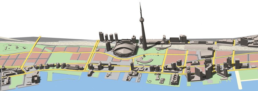 The initial plan for the rejuvenation of Toronto's waterfront, to which du Toit was a key contributor, envisaged the reconfiguration of the Gardiner-Lakeshore corridor. Photo: DTAH