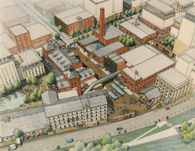 Du Toit spearheaded the creation of a heritage master plan for Toronto's 13-acre Distillery District, including the rehabilitation of its 19th century industrial buildings. Photo: DTAH