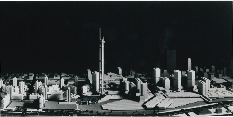While working with John Andrews, du Toit led the Metro Centre plan for Toronto's downtown railway lands and played a key role in completing the CN Tower. Photo: Metro Centre