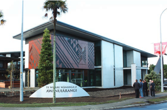 Te Whare Wananga o Awanuiarangi, Whakatane cam-pus (institute of higher learning). Photo: designTRIBE