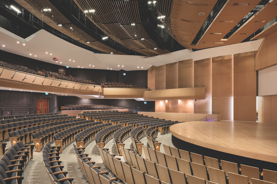 A 1,000-seat auditorium accommodates convocation and other large-scale events.